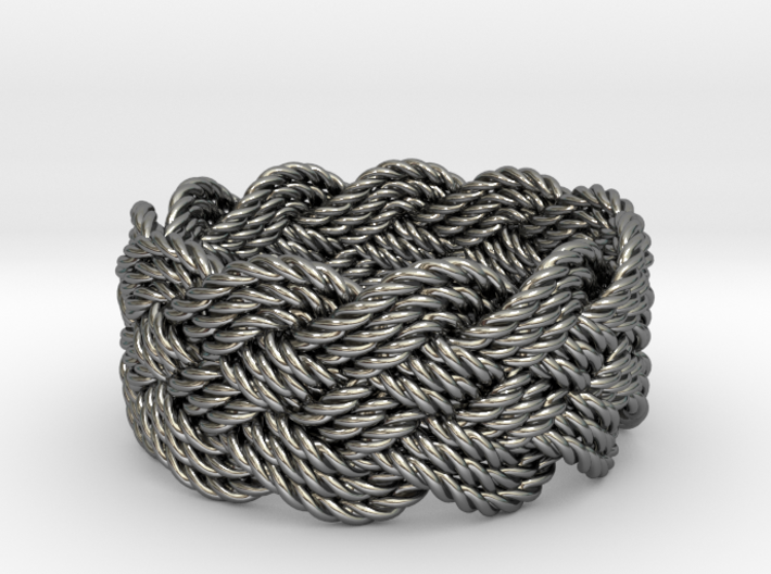 Nautical Turk's Head Knot Ring - Size 13 3d printed
