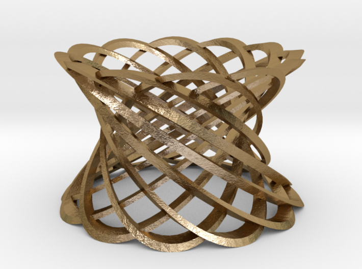 12 Intertwined Mobius strips, large 3d printed
