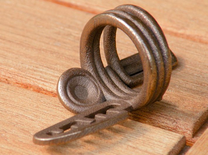 Balem's Ring3 - US-Size 7 (17.35 mm) 3d printed Ring 3 in polished bronze steel (shown: size 10)
