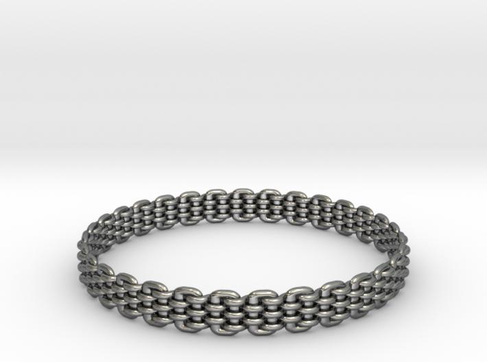 Wicker Pattern Bracelet Size 14 3d printed