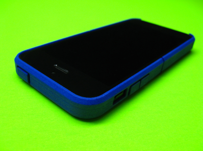 "Cariband case for iPhone 5/5s, ""holds stuff"" 3d printed Royal Blue Strong & Flexible Polished"