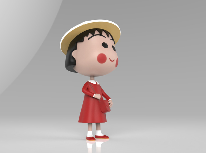 Maruko Chan Red Dress 3d printed