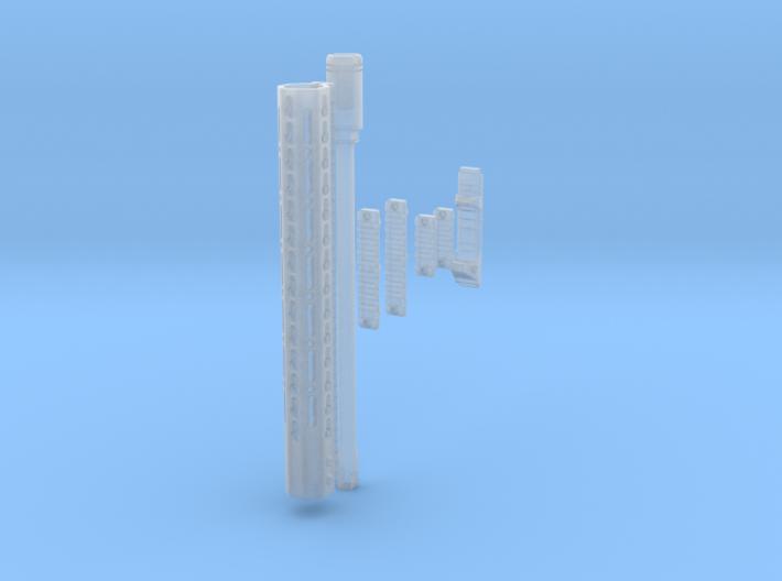 1:6 scale Noveske NSR, Barrel with KX5, and picati 3d printed