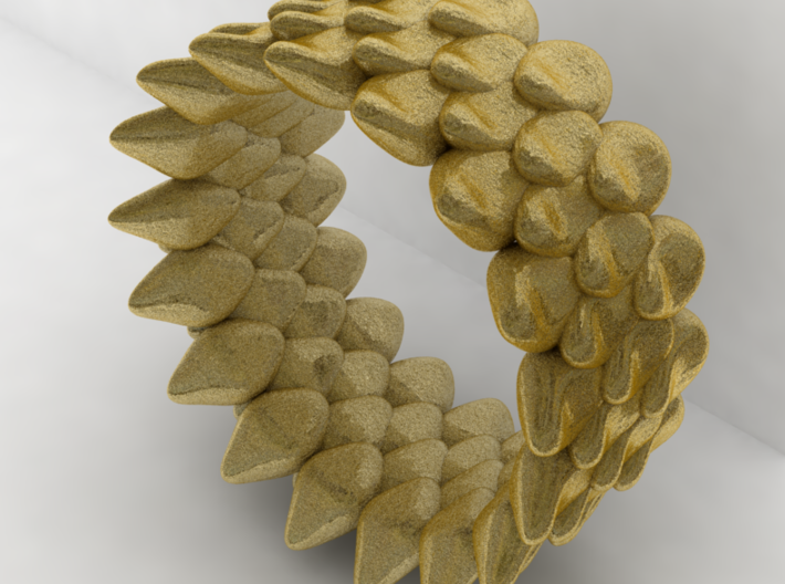 Snake Ring, Reptile Texture Size 7 3d printed