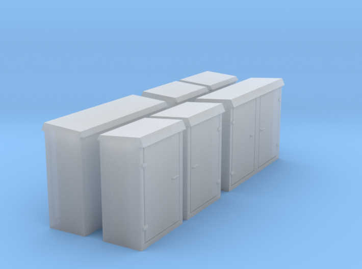 Relay cabinets N scale 3d printed