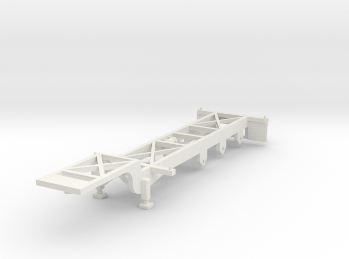 000065 USA Container Trailer HO 1:87 3d printed