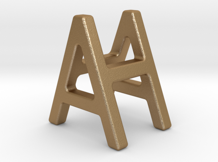 AH HA - Two way letter pendant 3d printed