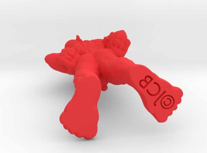 a little political imp, looking to the right 3d printed