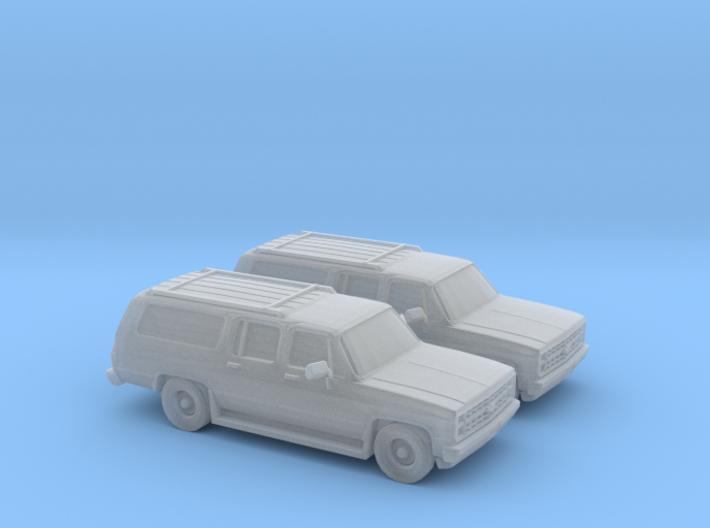 1/160 2X 1986 Chevrolet Suburban 3d printed