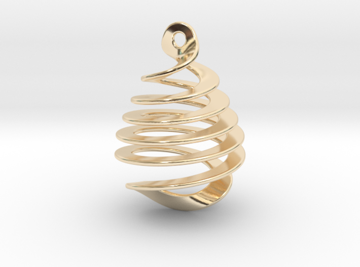 Earring Twisted 3d printed