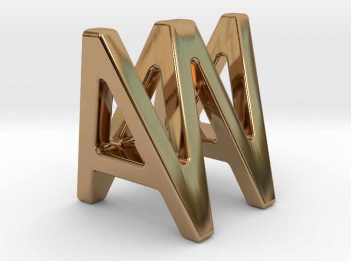 AW WA - Two way letter pendant 3d printed