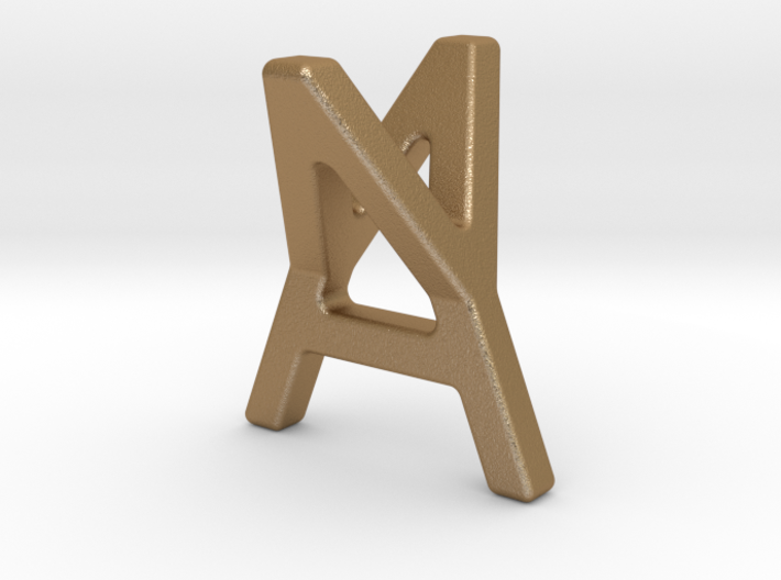 AY YA - Two way letter pendant 3d printed