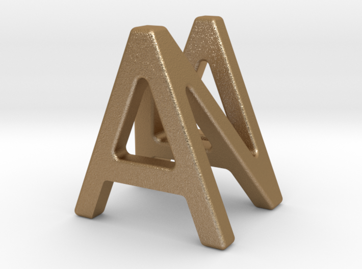 AN NA - Two way letter pendant 3d printed