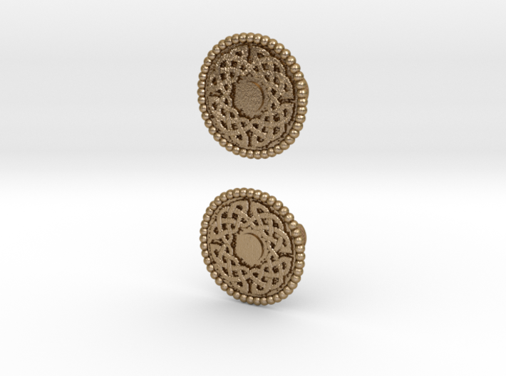 Celtic Round Knot Cufflinks 3d printed