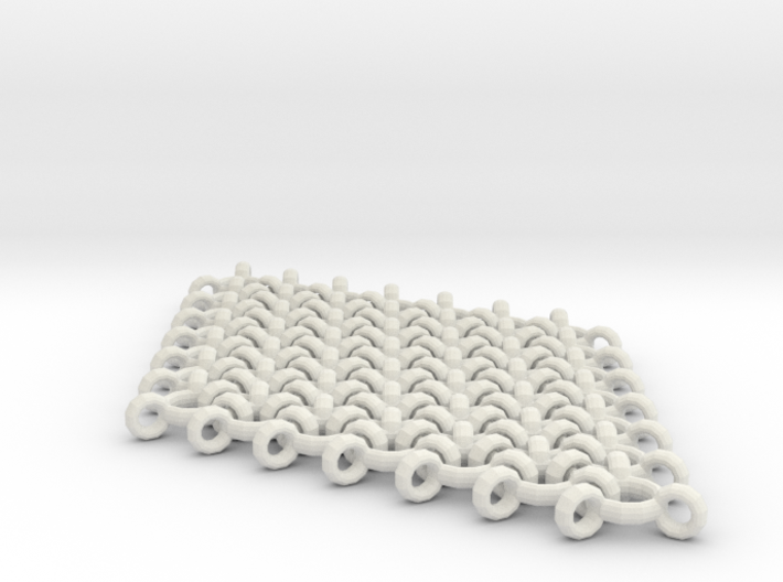 Interlinked Wave Single Pendant Earring 3d printed