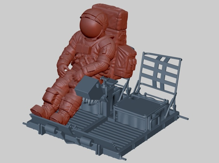 1: 24 Apollo Astronaut a7lb Type / LGV right 3d printed