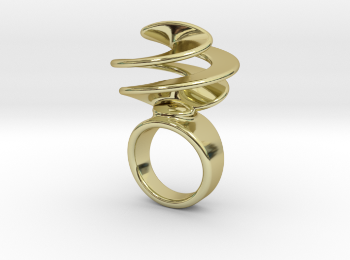 Twisted Ring 25 - Italian Size 25 3d printed