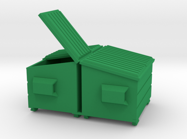 Dumpster - Mixed 'O' 48:1 Scale Qty (2) 3d printed