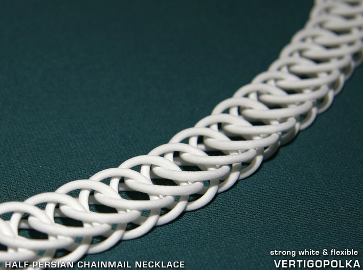 Half-Persian 4-in-1 Chainmail Necklace 3d printed