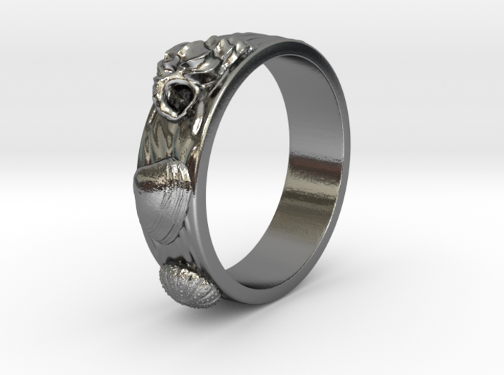 Urchin Ring 1 - US-Size 2 1/2 (13.61 mm) 3d printed