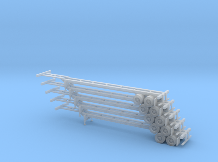 N 48' Container Chassis Stack #1 3d printed