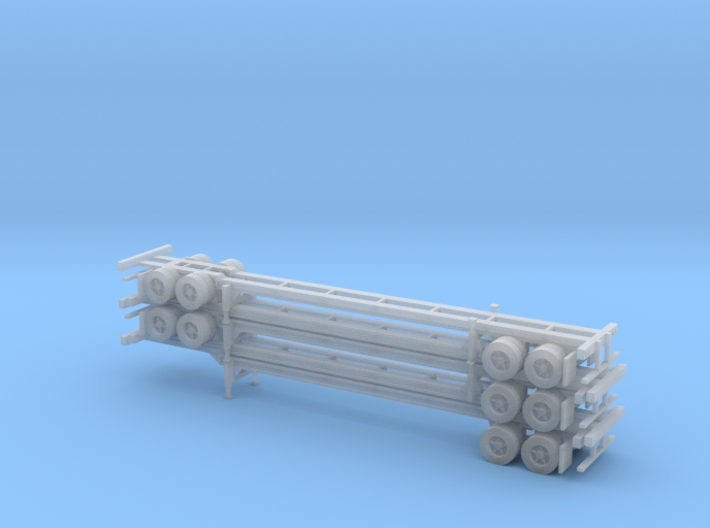 N 48' Container Chassis Stack #2 3d printed