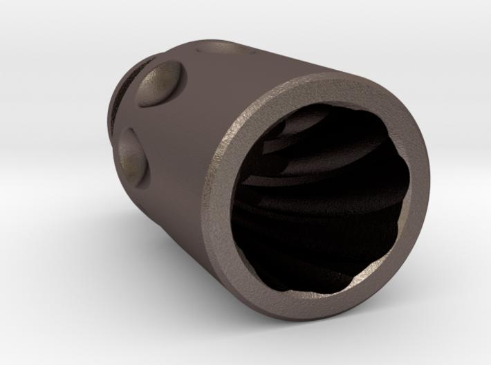 Dimples Driptip: Stainless Steel 3d printed