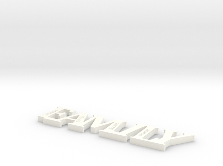 Family Personalize with member of family 3d printed