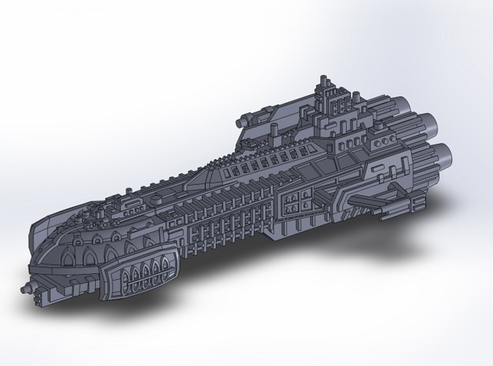 BFG Heresy Barge 3d printed
