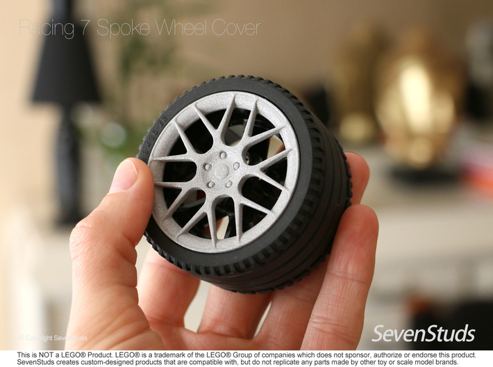 Racing Wheel Cover 03_56mm 3d printed