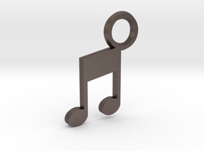 Music Note Keychain 3d printed