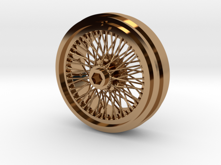 1/8 Wire Wheel Front, with 72 spokes 3d printed