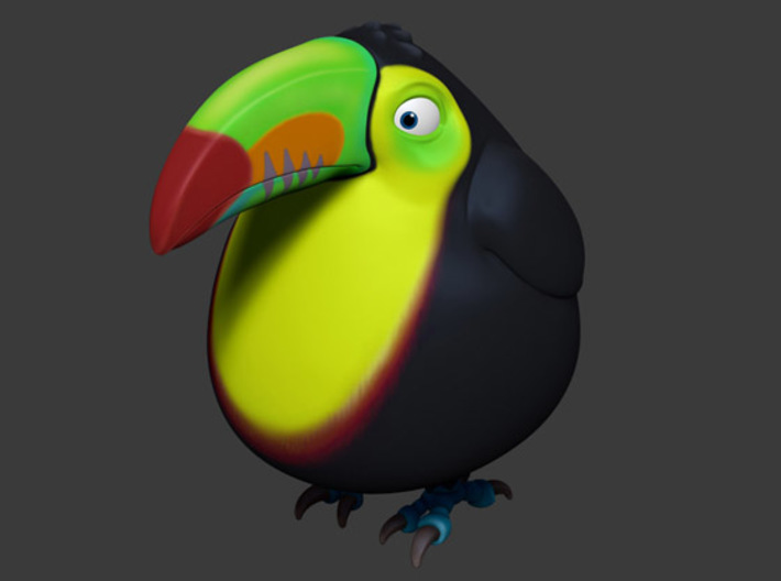 Chubby Toucan 3d printed