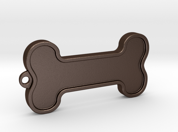Dog Bone Keychain 3d printed