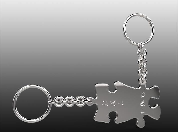 Couples Keychain 3d printed