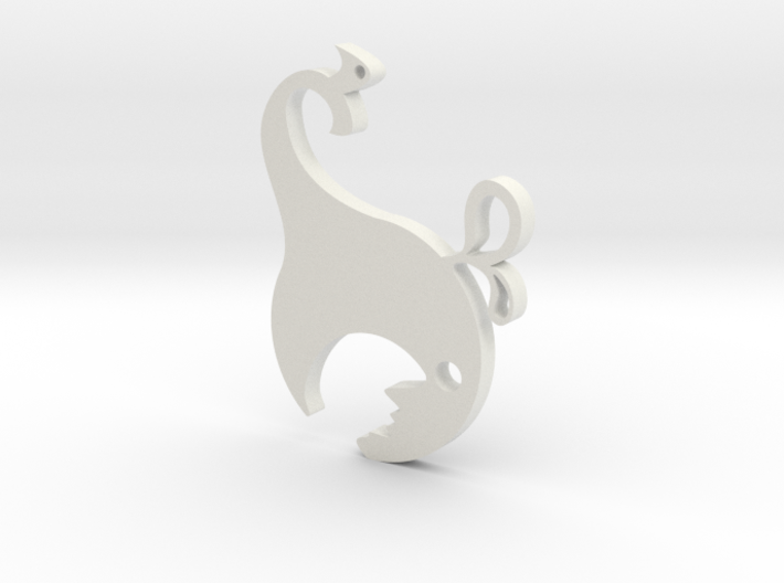 Hungry Whale Bottle Opener 3d printed White Hungry Whale Bottle Opener
