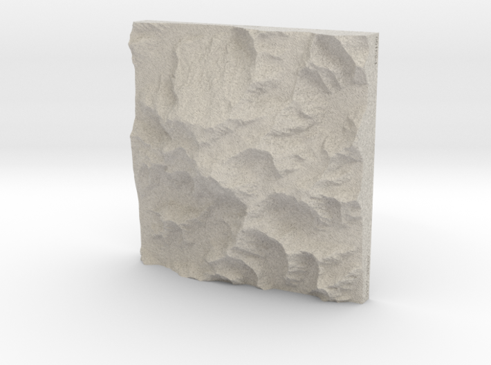 8'' Denali, Alaska, USA, Sandstone 3d printed