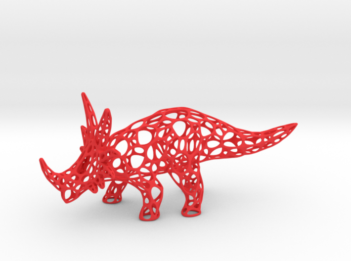 Styracosaurus Voronoi Wireframe 3d printed