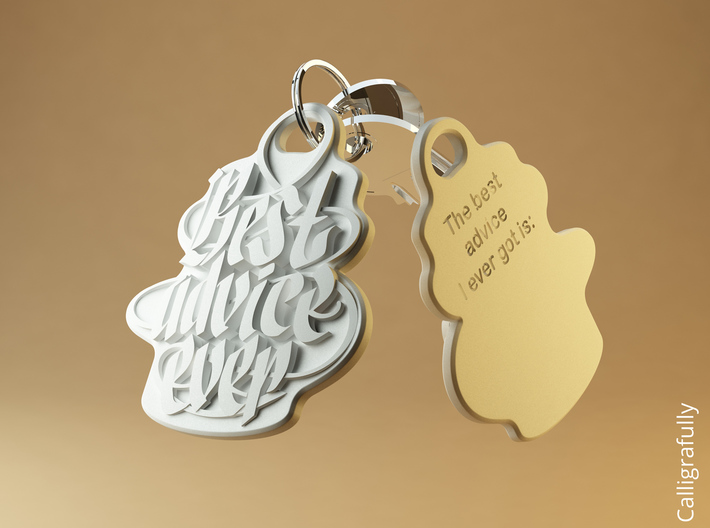 Motivating Customizable Keychain 3d printed