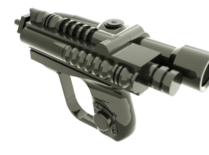 Biker Scout Toy Blaster Star Wars 3d printed A proper 3d rendering of the blaster