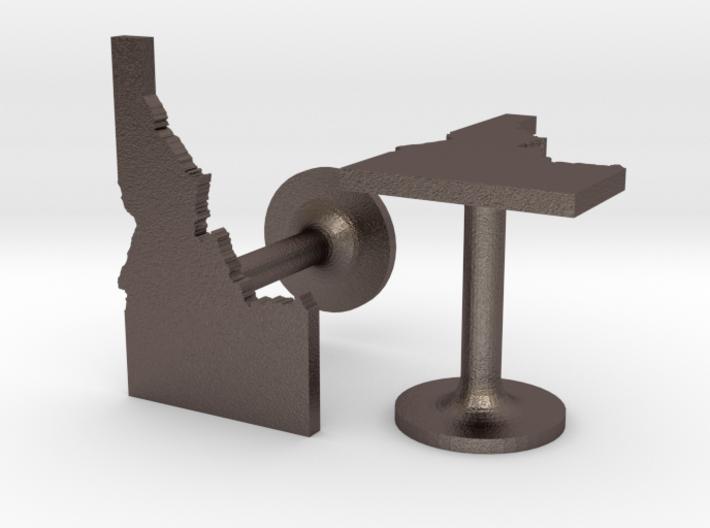 Idaho State Cufflinks 3d printed