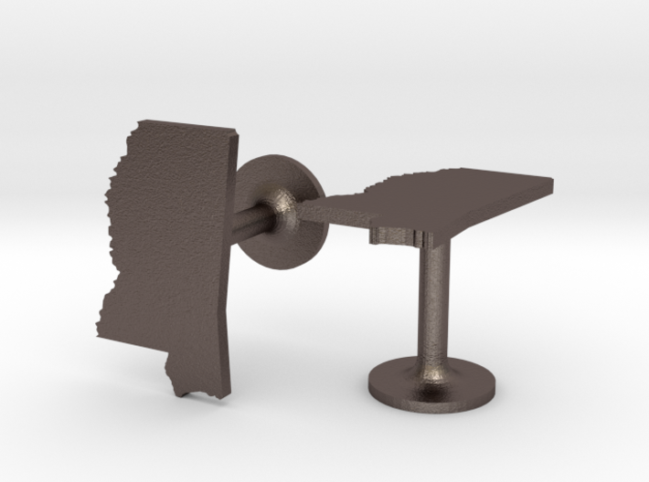 Mississippi State Cufflinks 3d printed