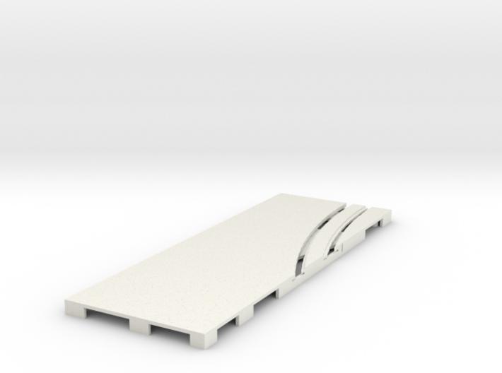 P-65stp-straight-lh-curve-inner-145r-75-pl-1a 3d printed