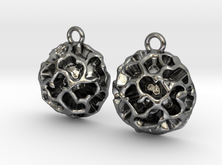Fossil Acritarch Cymatiosphaera Earrings 3d printed