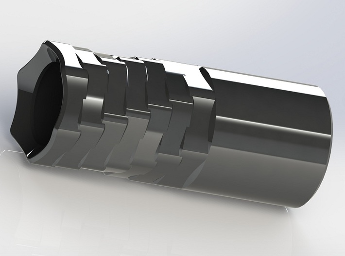 Silver AAA Torch 2 Head (Flashlight) 3d printed