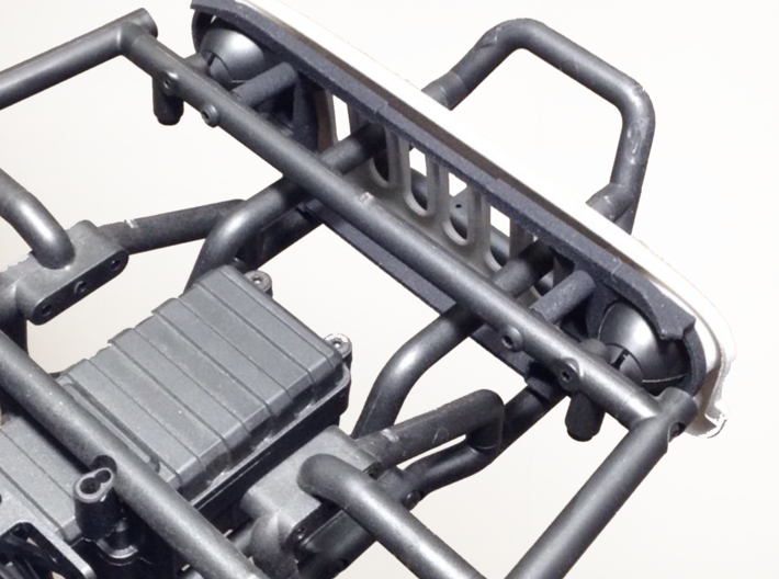 AW10002 Wraith EVIL eye grill & mount 3d printed Grill assembly mounts directly to the Wraith cage with 2 screws (sold separately) and requires the roll cage to be drilled.