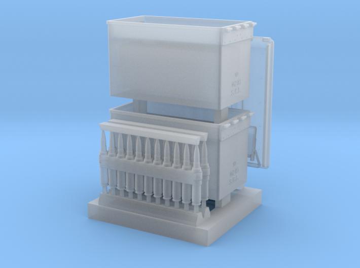 1/16 SPM-16-017 cal.50 ammobox opened 3d printed