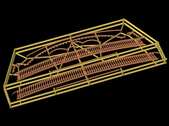 1:78 HMS Victory Stern Gallery Decoration 3d printed