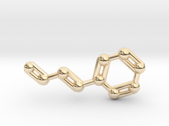 Cinnamaldehyde (Cinnamon) Molecule Keychain 3d printed