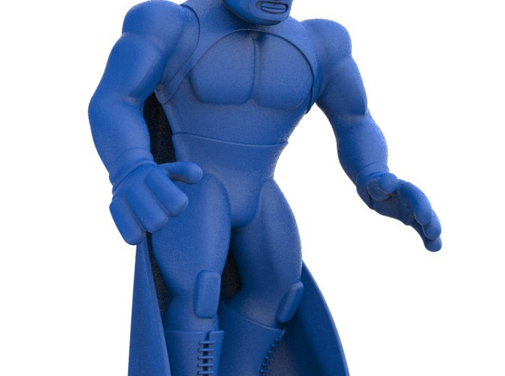 Mexican Wrestler #3: Blue Demon 3d printed